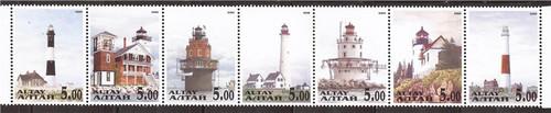 2000 Lighthouses - 4 Stamp Strip - 1E-012