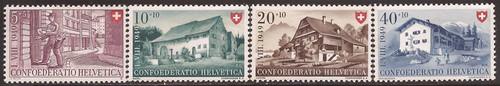 Switzerland - 1949 Postman & Houses - 4 Stamp Set MH - Scott #B183-6