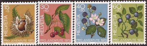 Switzerland - 1973 Fruits of the Forest - 4 Stamp Set MNH #B418-21