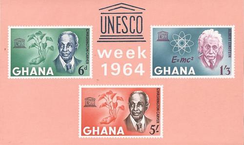 Ghana - 1964 Human Rights Day - 3 Stamp Souvenir Sheet - Scott #191a