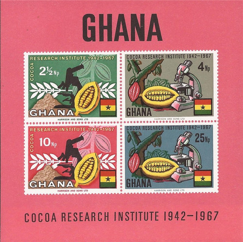 Ghana - 1965 Cocoa Research Institute - 4 Stamp Souvenir Sheet #326a