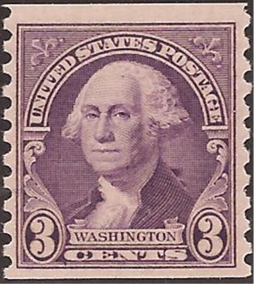 US Stamp - 1932 3c Washington Coil - Perf 10 V MNH - Scott #721