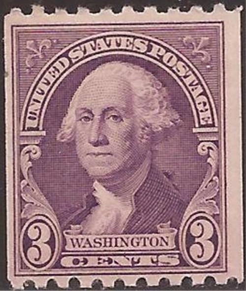 US Stamp - 1932 3c Washington Coil - Perf 10 H MNH - Scott #722