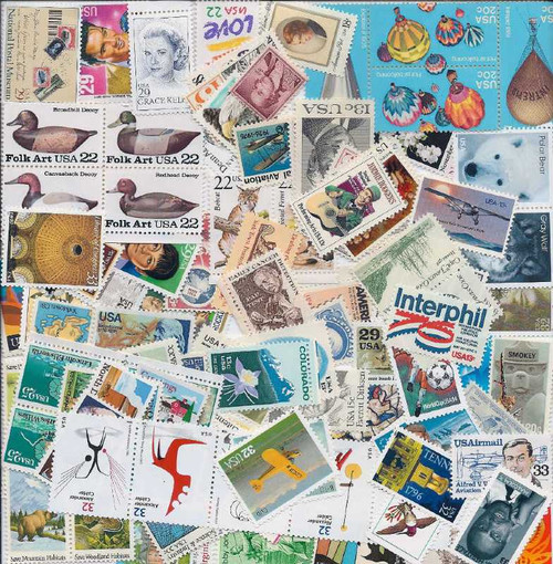 US Stamp Collection - 100 Different Higher Value - All 13c Minimum Face Value