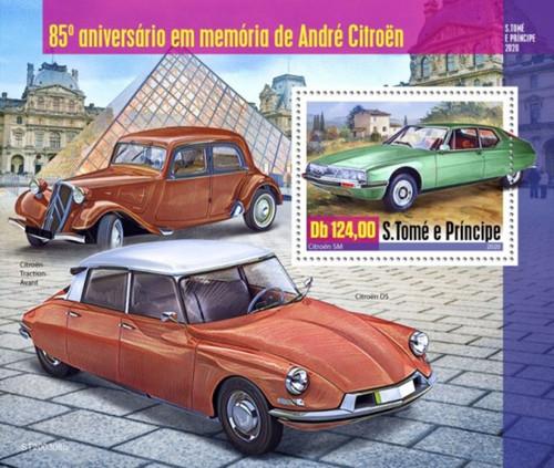St Thomas - 2020 Andre Citroen Automobiles - Stamp Souvenir Sheet - ST200308b