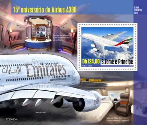 St Thomas - 2020 Aerospace Corporation Plane - Stamp Souvenir Sheet - ST200304b