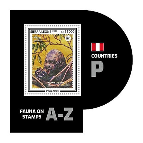 Sierra Leone - 2020 WWF Stamp on Stamp Animal - Stamp Souvenir Sheet SRL200446b10