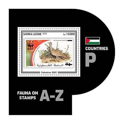 Sierra Leone - 2020 WWF Stamp on Stamp Bird - Stamp Souvenir Sheet - SRL200446b9