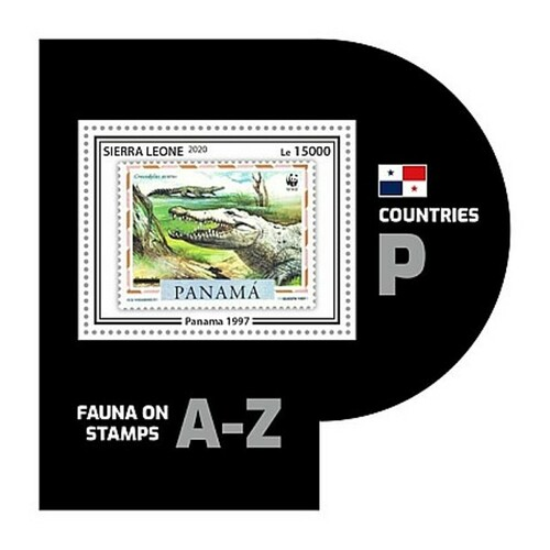 Sierra Leone - 2020 WWF Stamp on Stamp Reptile - Stamp Souvenir Sheet SRL200446b8