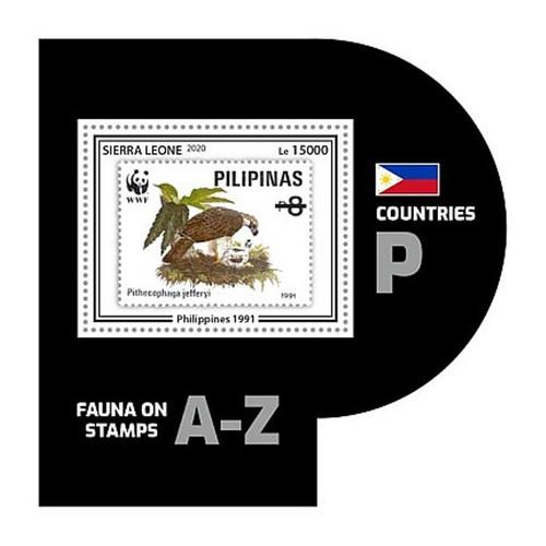 Sierra Leone - 2020 WWF Stamp on Stamp Bird - Stamp Souvenir Sheet - SRL200446b7