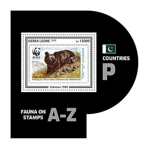 Sierra Leone - 2020 WWF Stamp on Stamp Animal - Stamp Souvenir Sheet SRL200446b6