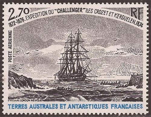 Fr. Southern & Antarctic Territory 1979 Challenger Exploration Stamp #C55