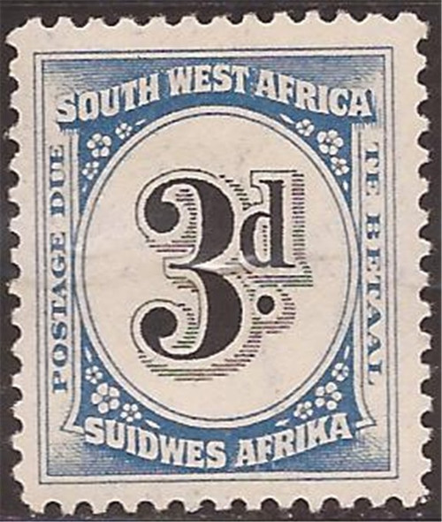 South West Africa - 1931 3p Postage Due Stamp MLH - Scott #J89