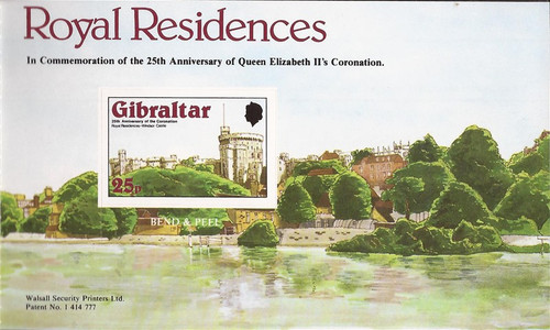 Gibraltar - 1978 Royal Houses - 4 Stamp Souvenir Booklet #368a