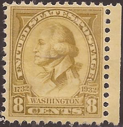 US Stamp - 1932 8c George Washington Bicentennial Stamp MNH #713
