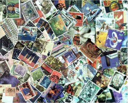 Great Britain Stamp Collection - 500 Different Stamps