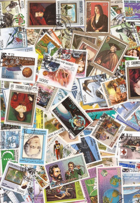Comoros - Unique Collection of 200 Different Stamps