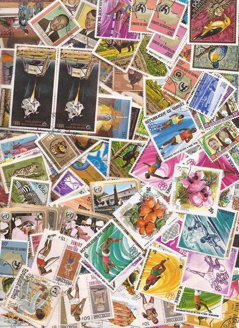 Guinea Republic - Stamp Collection - 300 Different Stamps
