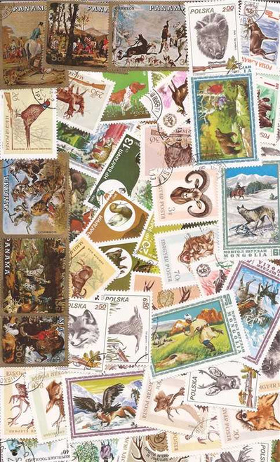 Hunting on Stamps Collection - 50 Different Stamps