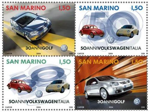 San Marino - Volkswagen Booklet of 4 Mint Stamps