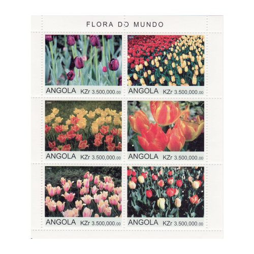 Tulips On Stamps - Mint Sheet of 6 - 1A-024