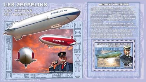 Congo-Zeppelin Airships Mint Souvenir Sheet 3A-167