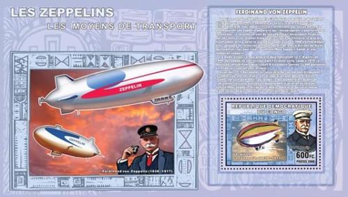 Congo-Zeppelin Airships Mint Souvenir Sheet 3A-168