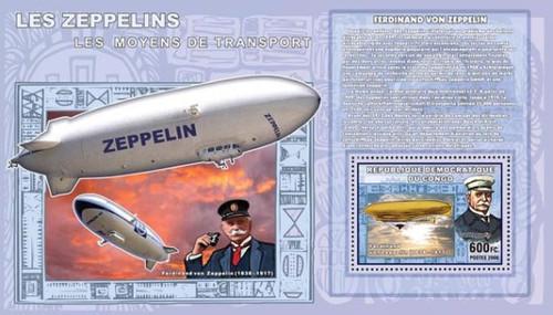 Congo-Zeppelin Airships Mint Souvenir Sheet 3A-170