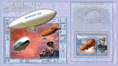 Congo-Zeppelin Airships Mint Souvenir Sheet 3A-171