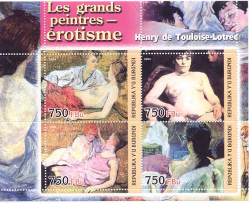 Toulouse-Lautrec Paintings On Stamps