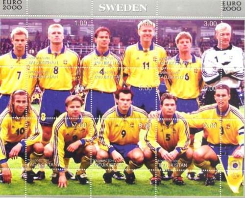Sweden Soccer Team - Mint Sheet of 9 Stamps - 20A-026