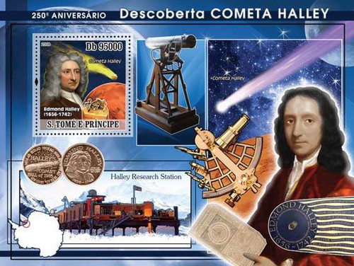 Sao Tome - Halley's Comet - Mint Souvenir Sheet ST8124b