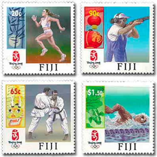 Fiji - Beijing Olympics Complete Mint Set of 4 FIJ0804