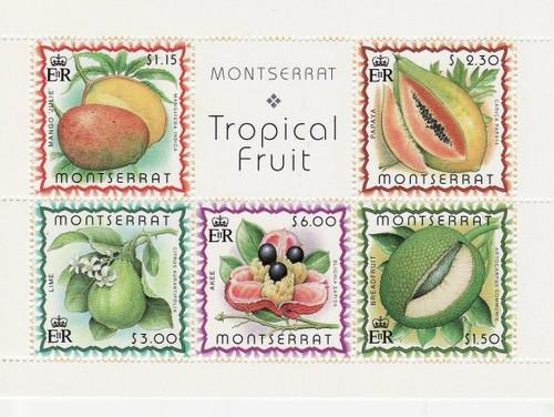 Montserrat - Fruit - Mint Sheet of 5 Stamps MNH - 988a