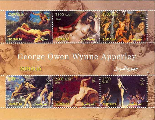 George Apperley Paintings - Mint Sheet of 4 Stamps