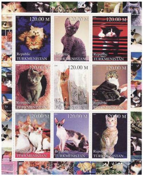 Cats - Mint Sheet of 9 MNH - 20D-043