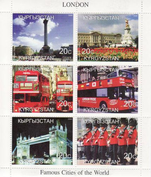 London on Stamps - 6 Stamp Mint Sheet MNH - 11A-051