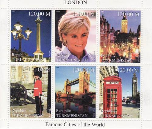 London - Mint Sheet of 6 MNH - 20D-063