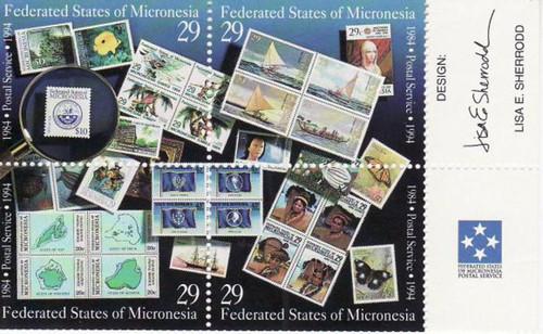 Micronesia - 1994 - Postal Service - 4 Stamps Block MNH - Scott #198