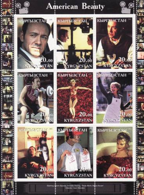 American Beauty Movie - Mint Sheet of 9 MNH - 11A-060
