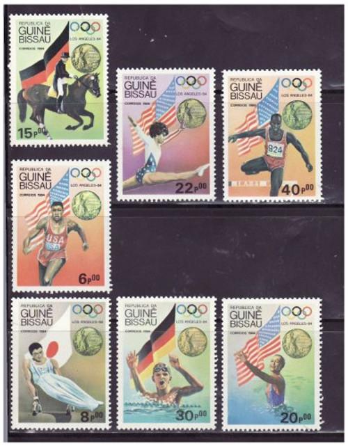 Guinea-Bissau - Olympic Winners - 7 Stamp Set MNH 611-7