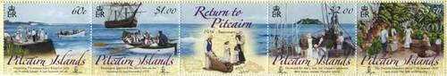 Pitcairn Islands Return - Mint Strip of 5 PIT0901