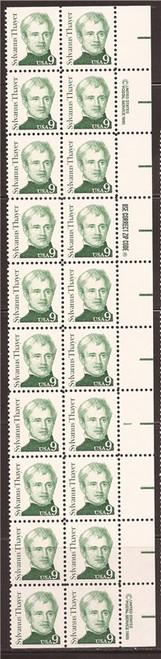 US Stamp 1985 9c Sylvanus Thayer - Plate Block of 20 Stamps