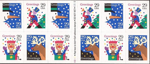 US Stamp 1993 Christmas - Booklet Pane of 12 Stamp