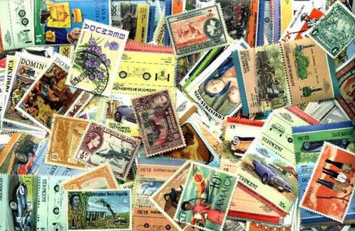 British West Indies Stamp Collection - 500 Different Stamps