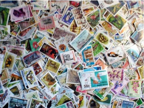 British Africa Stamp Collection - 1,000 Different Stamps