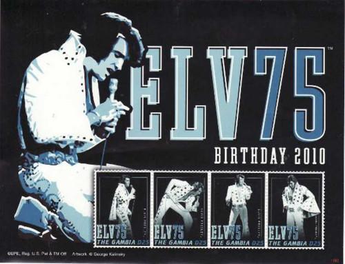 Gambia 2010 Elvis Presley 4 Stamp Sheet 7L-030
