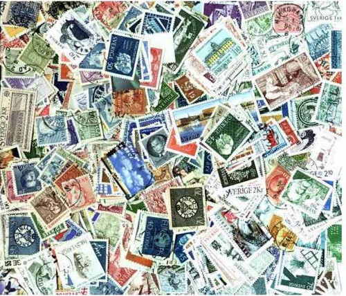 Sweden Stamp Collection - 1,200 Different Stamps