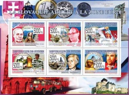 Guinea - Slovakia Celebrities, Warhol - 6 Stamp Mint Sheet 7B-950