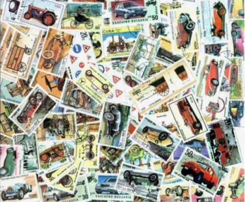 Automobiles & Motor Vehicle Stamp Collection - 200 Different Stamps